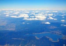 鸟瞰图Batak水库保加利亚风景 免版税库存图片