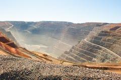 鸟瞰图Kalgoorlie超级坑开放裁减金矿 免版税图库摄影