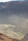 鸟瞰图Kalgoorlie超级坑开放裁减金矿 免版税库存照片