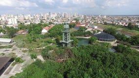 鸟瞰图Mangal das garas在贝尔姆打标准数城市 亚马逊保护 2016年11月 影视素材