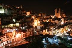 鸟瞰图Taxco, Guerrero 图库摄影