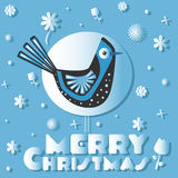 鸟祝愿圣诞快乐 库存照片