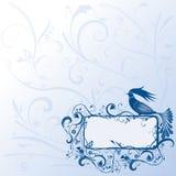 鸟神仙框架 库存例证