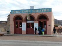 鸟笼剧院,墓碑,亚利桑那 免版税库存图片
