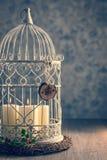 鸟笼蜡烛 免版税库存图片