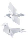 鸟纸密封 皇族释放例证