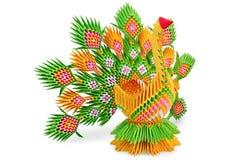 鸟绿色origami黄色 免版税库存照片