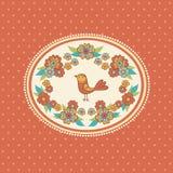 鸟花卉框架 免版税库存图片