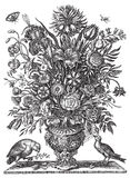 鸟花束花瓶向量维多利亚女王时代的&# 库存图片