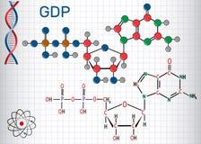 鸟苷二磷酸国民生产总值分子 结构化学制品 向量例证