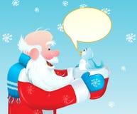 鸟蓝色圣诞老人 免版税库存图片