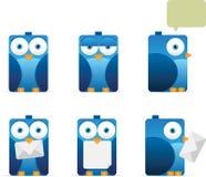 鸟蓝色正方形 免版税图库摄影