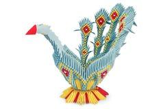鸟蓝色origami 免版税库存照片