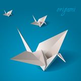 鸟起重机origami向量 库存照片