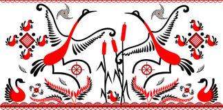鸟跳舞 皇族释放例证