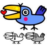 鸟逗人喜爱的华伦泰 免版税库存图片
