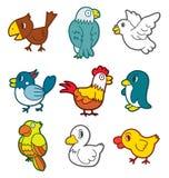 鸟逗人喜爱的图标 免版税库存图片