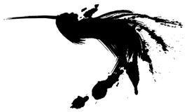 鸟飞行 象查找的画笔活性炭被画的现有量例证以图例解释者做柔和的淡色彩对传统 图库摄影