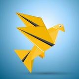 鸟飞行origami向量 免版税库存照片