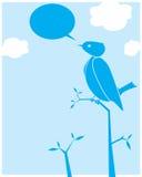 鸟鸣叫 免版税库存照片