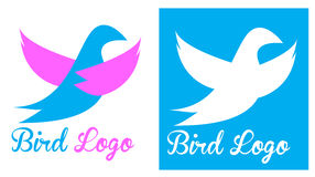 鸟鸽子商标 免版税库存照片