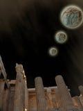 鸟幻想横向光魔术天空星期日日落 免版税库存图片