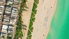 鸟` s眼睛视图迈阿密海滩, 4k录影 股票视频