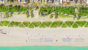 鸟` s眼睛视图迈阿密海滩, 4k录影 影视素材