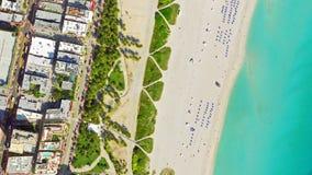 鸟` s眼睛视图迈阿密海滩 免版税库存图片