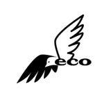 鸟eco商标 免版税图库摄影
