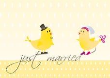 鸟indd婚礼 免版税库存图片