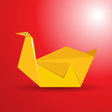 鸟origami向量 库存图片