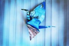 鸟Origami纸 免版税库存照片