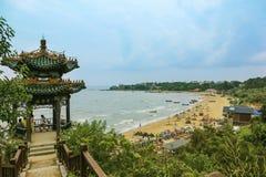 鸠巢公园,北戴河,中国 免版税库存图片