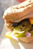 鸡丁沙拉三明治 免版税图库摄影