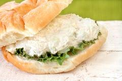 鸡丁沙拉三明治 免版税库存照片