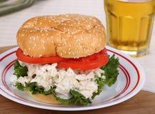 鸡丁沙拉三明治 库存照片