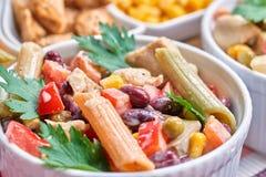 鸡丁沙拉蔬菜 库存图片