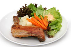 鸡丁沙拉 免版税库存图片