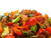 鸡中国油煎的蔬菜 免版税库存图片