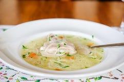 鸡中国食物餐馆汤 库存图片