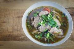 鸡中国食物餐馆汤 库存照片