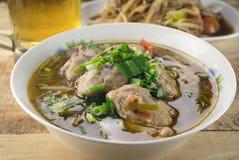 鸡中国食物餐馆汤 免版税库存图片