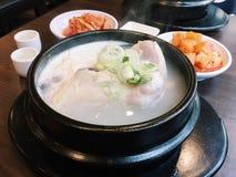 鸡中国食物餐馆汤 免版税图库摄影