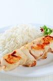 鸡串用米 免版税库存图片