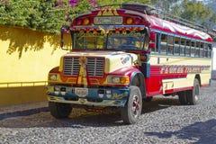 鸡公共汽车,危地马拉 免版税库存图片