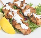 鸡印第安kebabs tikka 免版税库存照片