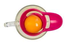 鸡卵黄质的分离器从蛋白质的 免版税库存照片