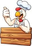 鸡厨师 库存照片