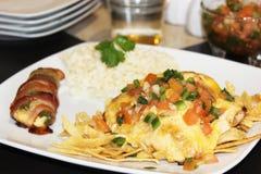 鸡和乳酪与jalapeño和烟肉 免版税库存图片